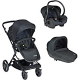 Kombi-Kinderwagen Kokoon Trio, full black