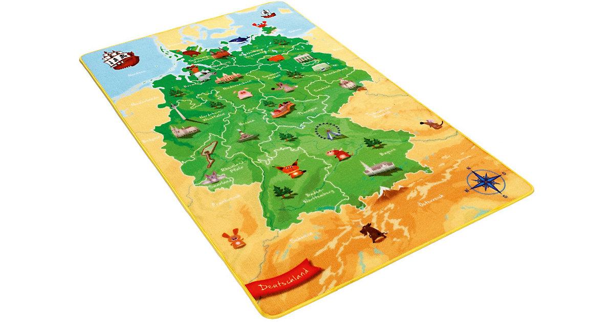 Kinderteppich Deutschlandkarte Gr. 100 x 160