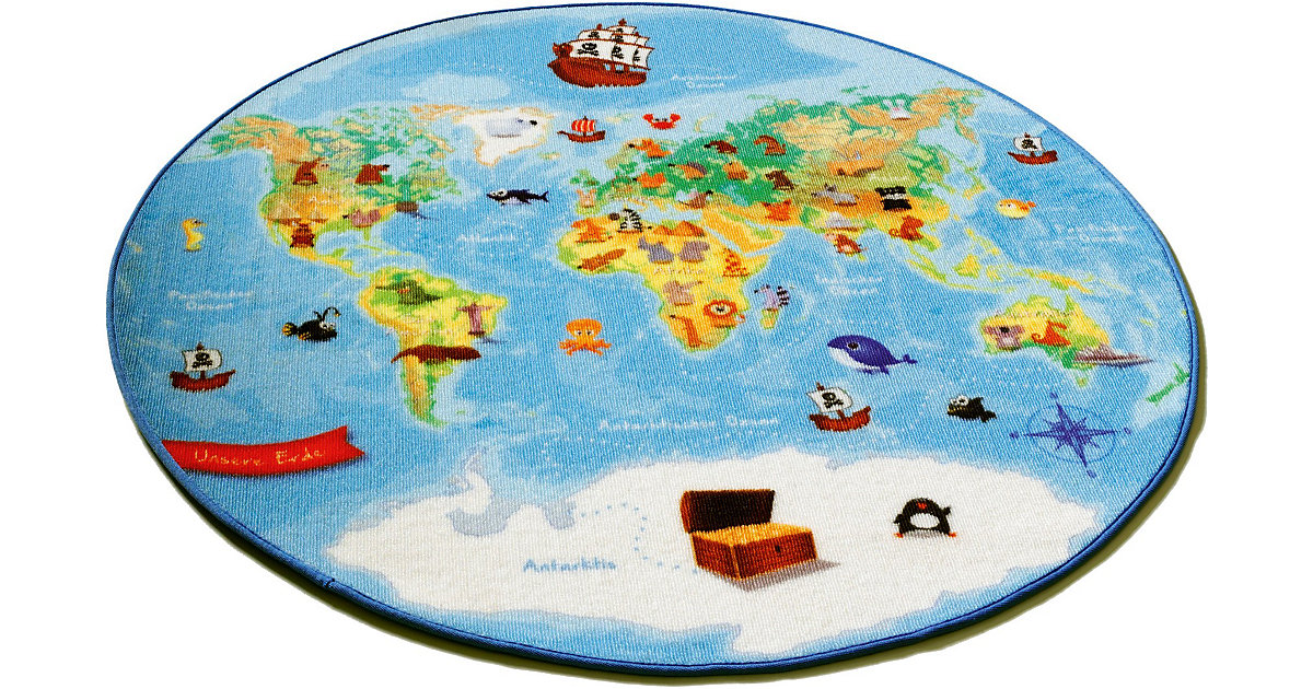 Kinderteppich Weltkarte Gr. 130