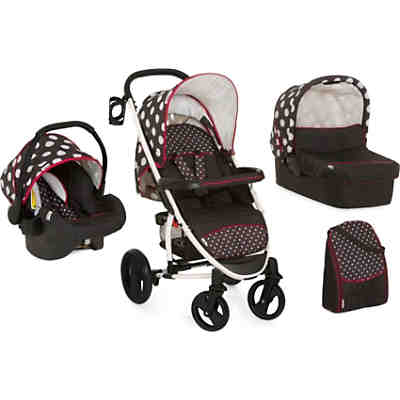 Kombi Kinderwagen Malibu XL All in One, dots black, 2017