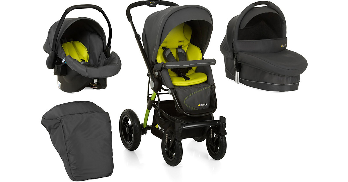 Kombi Kinderwagen King Air Trioset, lime, 2016 grün