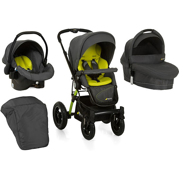 Kombi Kinderwagen King Air Trioset, lime, 2016