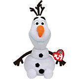 "Мягкая игрушка ""Cнеговик Олаф"", 25 см, звук, Холодное сердце, Disney Beanie Babies, Ty"