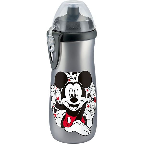 Trinkflasche Sports Cup, PP, 450 ml, Mickey, silber
