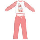 Комплект для девочки: толстовка и брюки S'cool