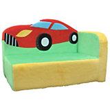 Мягкий диван Машинка 43*61*35, СмолТойс, салатовый