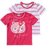 KIDIVIO Baby T-Shirt Doppelpack für Mädchen