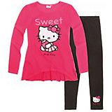 Комплект: футболка с длинным рукавом и леггинсы для девочки Hello Kitty