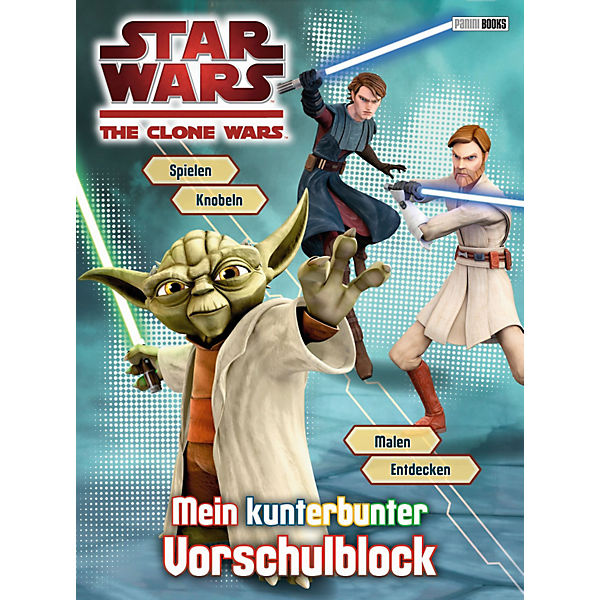 Star Wars: The Clone Wars - Mein kunterbunter Vorschulblock