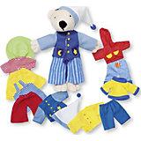Мягкая кукла Мишка, с комплектом одежды, goki