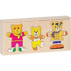 """Пазлы в коробке """"Одень семью медведей"""", 54 дет., goki"""