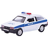 Модель машины 1:34-39 LADA 2108 МИЛИЦИЯ ДПС., Welly