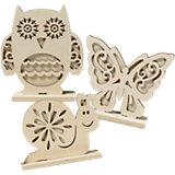 Dekofiguren Eule, Schnecke & Schmetterling zum Selbstgestalten