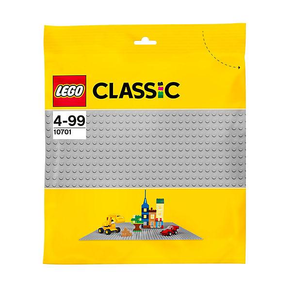 LEGO Classics 10701: Строительная пластина серого цвета