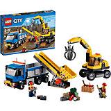 LEGO 60075 City: Bagger und Transportwagen