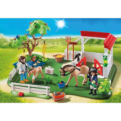PLAYMOBIL® 6147 SuperSet Koppel mit Pferdebox