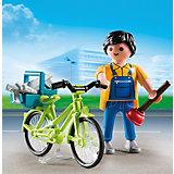 Экстра-набор: Мастер с инструментами на велосипеде, PLAYMOBIL