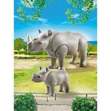 Зоопарк: Носорог с носорожком, PLAYMOBIL
