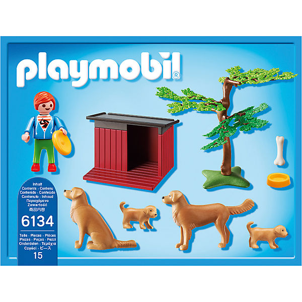 playmobil 6134 golden retriever mit welpen playmobil mytoys. Black Bedroom Furniture Sets. Home Design Ideas