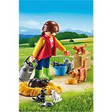 Ферма: Женщина с семейством кошек, PLAYMOBIL