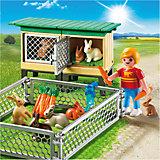 Ферма: Вольер и клетки с кроликами, PLAYMOBIL