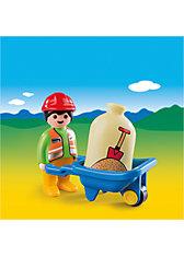 PLAYMOBIL® 6961 1-2-3: Bauarbeiter mit Schubkarre