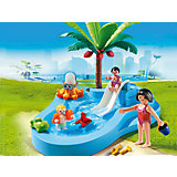 Аквапарк: Детский бассейн с горкой, PLAYMOBIL