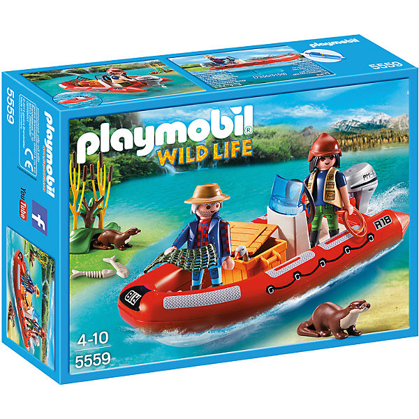 playmobil 5559 schlauchboot mit wilderern playmobil wild life mytoys. Black Bedroom Furniture Sets. Home Design Ideas