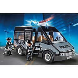 Бронированный фургон с полицейскими, со светом и звуком, PLAYMOBIL