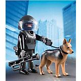 Экстра-набор: Полицейский спецназовец с собакой, PLAYMOBIL
