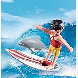 Экстра-набор: Сёрфингист с доской, PLAYMOBIL