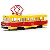 Трамвай, инерционный, со светом и звуком, ТЕХНОПАРК