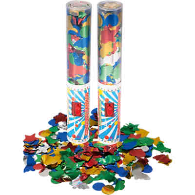 Party Popper Konfetti, 2er Set