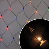 "Электрогирлянда ""Сетка"", 1,35х2 м,  многоцв., 200 ламп"