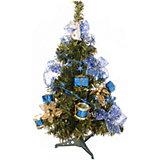 Ель декорированная, 51 см, синие украшения