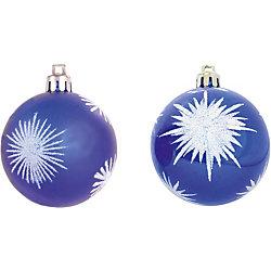 Шары с рисунком, 6 см, 6 шт., цвет - синий