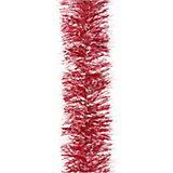 Мишура 6 слоев, 7 см х 2 м, цвет - красный