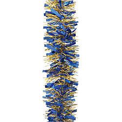 Мишура, 6 слоев, 10 см х 2 м, цвет - синий+золото