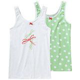 SCHIESSER Unterhemden Doppelpack für Mädchen Libelle