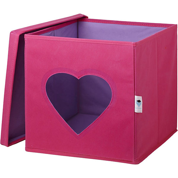 aufbewahrungsbox herz mit sichtfenster pink store it mytoys. Black Bedroom Furniture Sets. Home Design Ideas