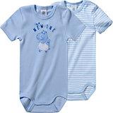 SANETTA Baby Body Doppelpack für Jungen Organic Cotton