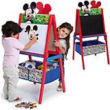 Schreib- und Magnet- Standtafel mit Aufbewahrung, Mickey Mouse