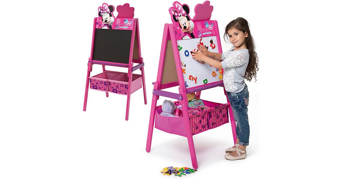 Schreib- und Magnet- Standtafel mit Aufbewahrung, Minnie Mouse pink