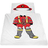 Kinderbettwäsche Feuerwehrmann, Linon, 135 x 200 cm