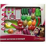 Игровой набор фруктов и овощей, Маша и медведь, Играем вместе