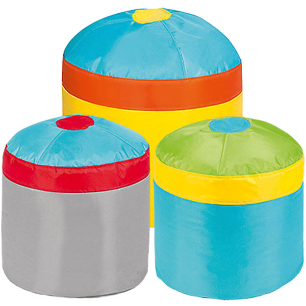 Sitzhocker Cupcake 3er Set, Oxford, bunt