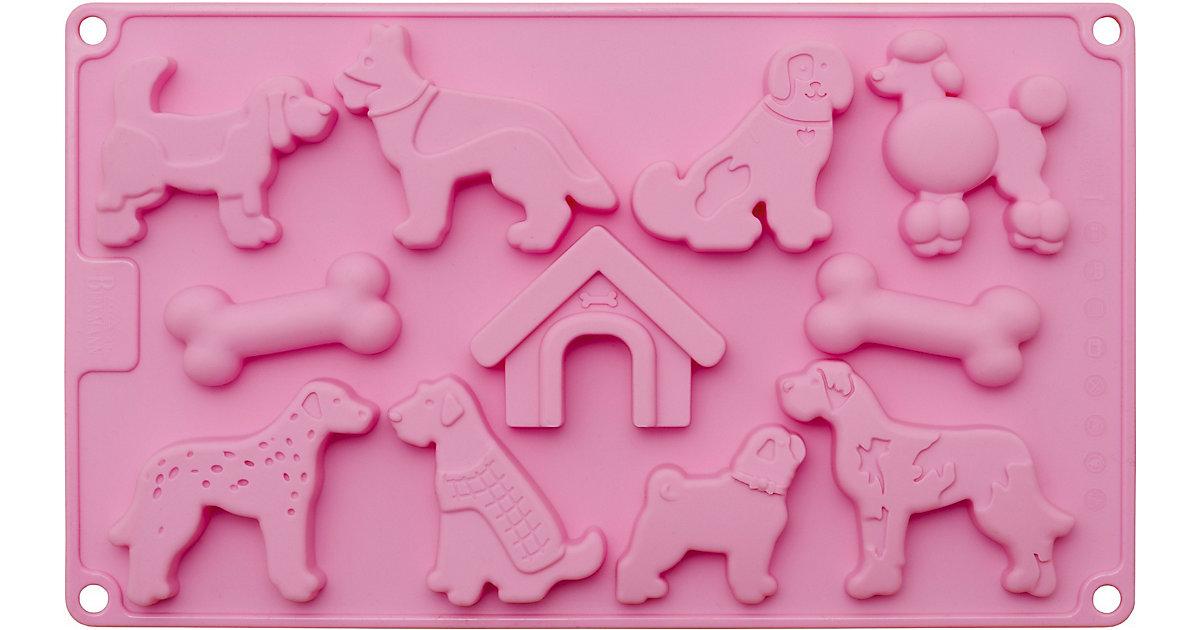 Silikonbackform Schoko- & Keks-Konfekt Hunde