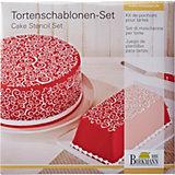 Torten Schablonen-Set Kringel, 2-tlg.