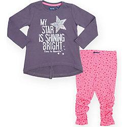 Комплект для девочки: футболка с длинным рукавом и леггинсы Blue Seven
