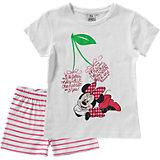DISNEY MINNIE MOUSE Set T-Shirt + Shorts für Mädchen